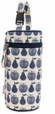 Pink Lining Bottle Holder Apples & Pears Blue Baby Feeding Travel BN