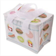 PUCKATOR WOVEN INSULATED LUNCH COOL BAG FOOD DESIGN IDEAL SCHOOL WORK PICNICS