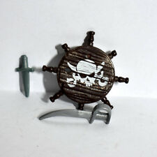 Playmobil Pirate Shield with Sword and Dagger - Accesories