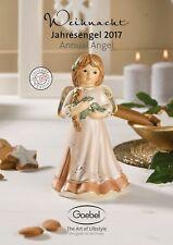 Goebel Jahresengel / Annual Angel 2017 - Festlicher Weihnachtsschmuck  15,5 cm