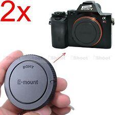 2x Camera Body Cover Cap for Sony NEX-7 NEX-6 NEX-5 NEX-5N NEX-5R NEX-5T