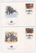 1983 Uganda WWF Endangered Species SG 406/9 Set four FDC or Fine Used