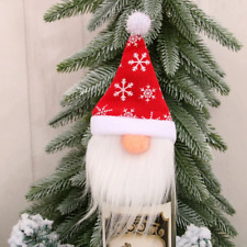 New Christmas Party Tables Ornament Santa Claus Hat Sweater Wine Bottle Cover