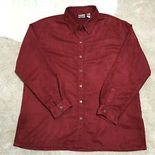 Chico's  Women's Red Shirt Long Sleeve Button Up Size 3