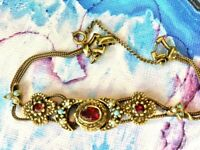 "VTG GOLDETTE SLIDE LINK BRACELET Rare Unsigned 7"" 1950s-60s  Ben Gartner"