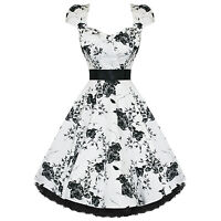 RKH29 Hearts and Roses H&R Rockabilly Vintage Party Dress Swing 50s Retro Plus