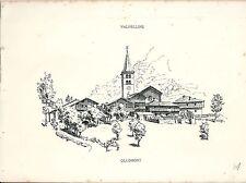 1880 OLLOMONT Veduta Valpelline Valle Aosta Alpinismo Montagna Grand Combin