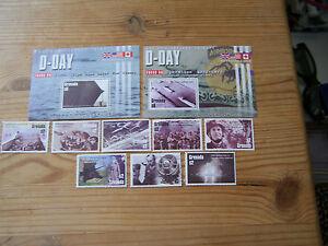 GRENADA,2004,60TH ANNIV OF  D.DAY.2 M/SHEETS PLUS 8 SINGLE VALUES,U/M.CAT £38.