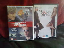 Spy Game/Mr & Mrs Smith-Brad Pitt Action & Adventure DVD: 0/All Tony ScottNormal