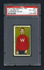 PSA 4.5 1910 C60 LaCROSSE CARD #57 C. GALBRAITH