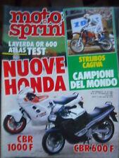 Motosprint 36 1986 Test Laverda OR 600 - Honda CBR 1000 F - Honda CBR 600 F