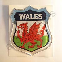Aufkleber Wales Kfz-Aufkleber Wales Emblem Flagge 3D Fahne Motorrad Auto