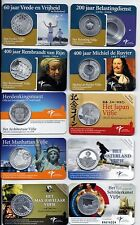 NETHERLANDS 5 EURO 2005-2015 19 UNC COINS IN COINCARDS