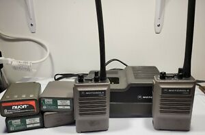 Vintage(Lot Of 2)Motorola HT600 VHF Radio CHARGER AND BATTERIES. WORKING /TESTED