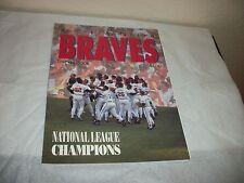 ATLANTA BRAVES 1992 YEARBOOK