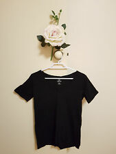 ✿♡ Womens Organic Cotton Shirt Top Size 8 (Black Eco Friendly GMO-Free) ♡✿
