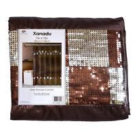 Brown Xanadu Fabric Shower Curtain
