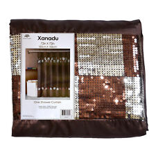 Brown Xanadu Fabric Shower Curtain