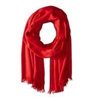 Calvin Klein CK Logo Wrap & Scarf in One Red Scarf HiJab 1SZ $40
