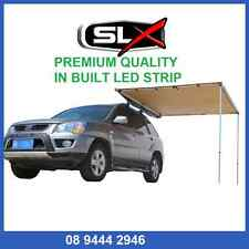 Side Awning ALLOY 2.5m x 2.5m CANVAS 4X4 AWNING LED STRIP TOP OF THE RANGE