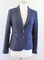 Banana Republic Womens Blue Donegala Speckle Classic Blazer Suit Jacket Size 10