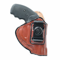 INSIDE THE WAISTBAND LEATHER HOLSTER FOR S&W BODYGUARD 38. IWB CONCEAL CARRY.