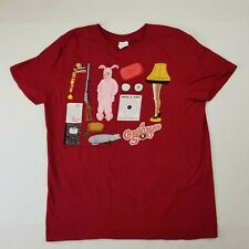 A Christmas Story Icons Holiday Tee Ugly Sweater T Shirt Ralphie Leg Lamp M
