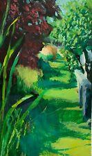SIMON SHAWN ANDREWS acrylic painting impressionism landscape garden path