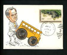US Postal History Numismatic Coins PNC FDC of Release P &  D 1972 Miami Beach FL