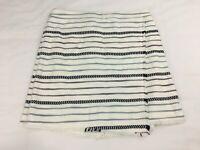 NWT Ann Taylor Loft Striped Woven Black White Blue A Line Skirt Size 12 NEW