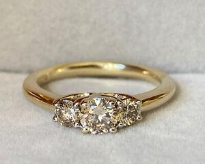 Michael Hill 0.50ct Diamond Three Stone Trilogy Ring Size I 1/2