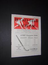 HOCKEY FIELD & LACROSSE. WOMEN'S SPORTS VINTAGE MAGAZINE. SEPT 30th 1933