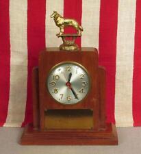 Vintage 1953 Lady Pat Hillside Farm Award Memorial Trophy Clock Dog Collie Top