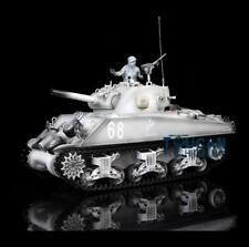 Us Stock HengLong 1/16 2.4G M4A3 Sherman Rc Tank White W/ Metal Tracks Smoke