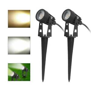 LED 240V Mains Garden Spot Lights Outdoor Yard Lawn Waterproof Ground Spotlights