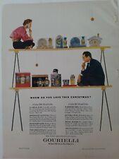 1952 Gourielli bath perfume shaving products vintage Christmas ad