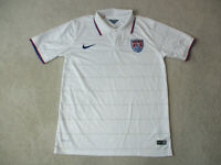Nike USA Soccer Jersey Adult Large White Red United States Dri Fit Futbol Mens *