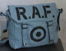 Normandy '44 Vintage Style RAF Bag Blue Roundel Utility Messenger Satchel