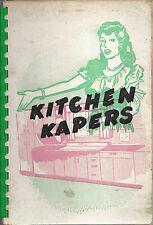 *ST CLOUD FL 1952 ANTIQUE *REBEKAH LODGE *KITCHEN KAPERS COOK BOOK *LOCAL ADS