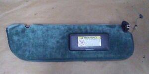 97 FORD E-150 ECONOLINE CUSTOM SUN VISOR USED BLUE / GREEN RH PASSENGER SIDE # 1
