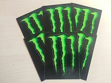 "10 x MONSTER ENERGY 4"" STICKERS GREEN CLAW 100% ORIGINAL DECAL"