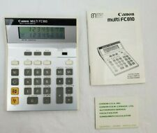 Vintage Canon Multi FC-810 Calculator With manual and paperwork TESTED