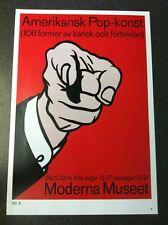 Roy Lichtenstein 1964 Amerikansk Pop Finger Pointing Poster 24 X 34cm Pop Art 47