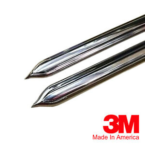 """Vintage Style 5/8"""" Chrome Side Body Trim Molding - Formed Pointed Ends"""
