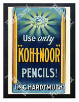 Historic Koh-I-Noor pencils, 1900s Advertising Postcard 1