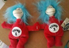 "Dr. Seuss Thing 1 & Thing 2 Universal 5"" with Tag 1998 Plush Cat in the Hat"