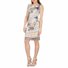 Izabel London Grey Abstract Print Bodycon Dress Size UK 14 rrp £30 DH079 CC 32