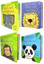 Usborne Thats Not My Animals Collection 4 Books Set Panda, Monkey, Elephant Lion