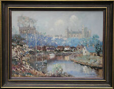 WILLIAM LONGSTAFF 1879-1953 AUSTRALIAN OIL PAINTING ART ARUNDEL CASTLE SUSSEX