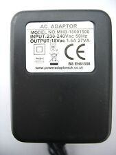 1.5A 1500MA 18V AC/AC OUTPUT MAINS POWER ADAPTOR/SUPPLY/CHARGER/TRANSFORMER